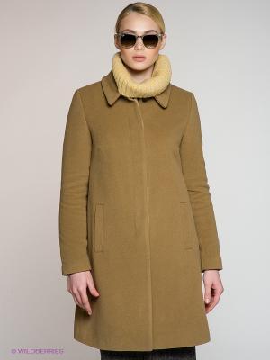 Пальто Stefanel. Цвет: светло-коричневый