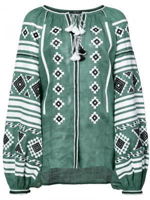 Блузка с кисточками Vita Kin. Цвет: зелёный
