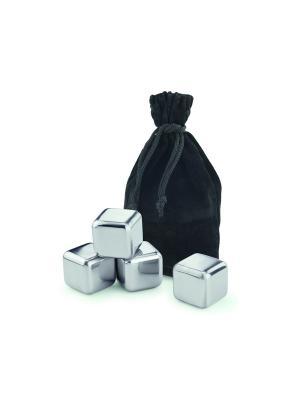 Кубики для охлаждения напитков Ice Cubes Contento. Цвет: серебристый