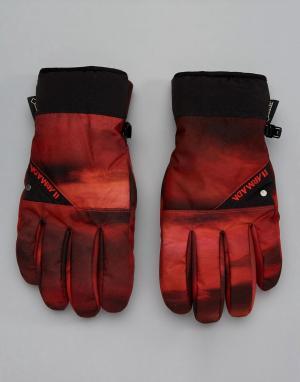 Armada Красные перчатки с принтом Decker Gore-Tex Ski. Цвет: красный