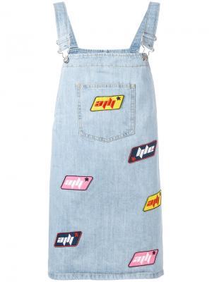 Джинсовое платье Au Jour Le. Цвет: синий