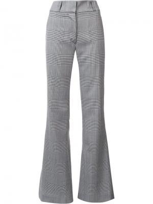 Расклешенные брюки в клетку Gareth Pugh. Цвет: чёрный
