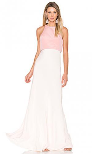 Двухцветное вечернее платье JILL STUART. Цвет: розовый