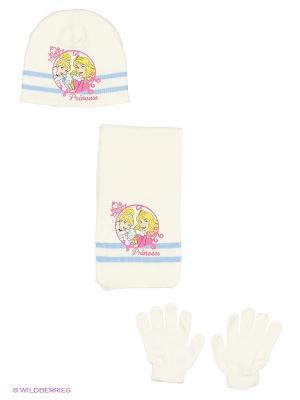 Комплект шапка, шарф, перчатки Sun City. Цвет: молочный