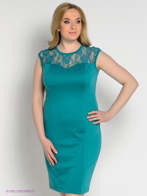 Платье Alego. Цвет: бирюзовый