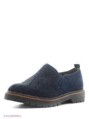 Ботинки Jana. Цвет: синий