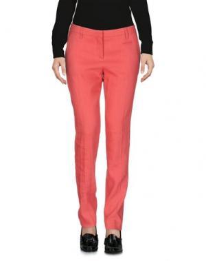 Повседневные брюки TRUE ROYAL. Цвет: коралловый