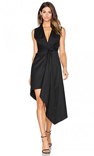 Платье миди harper Acler. Цвет: черный