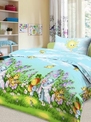 Комплект в кроватку Letto Ясли BGR-23, простыня на резинке, бязь. Цвет: голубой