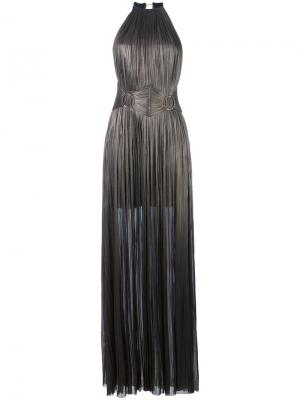Платье Chalaya Maria Lucia Hohan. Цвет: металлический