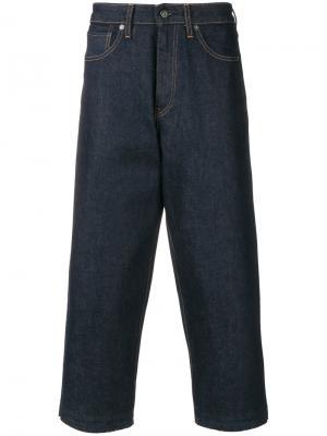 Укороченные широкие джинсы Levis: Made & Crafted Levi's:. Цвет: синий