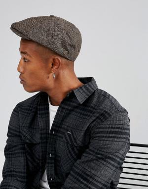 Brixton Плоская кепка Brood. Цвет: коричневый