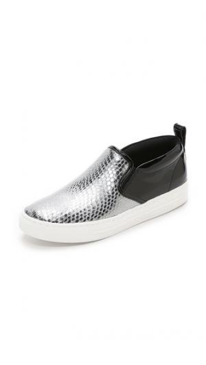 Кроссовки Broome без шнурков Marc by Jacobs. Цвет: темное серебро