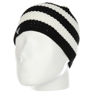 Шапка  Buffalo Striped Knits Beanie Black/White Fallen. Цвет: черный,белый