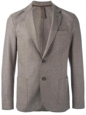 Пиджак на две пуговицы Eleventy. Цвет: телесный