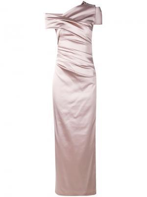 Вечернее платье Moa Talbot Runhof. Цвет: розовый и фиолетовый