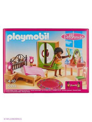 Кукольный дом: Спальная комната с туалетным столиком Playmobil. Цвет: малиновый