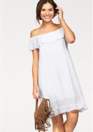Платье AJC. Цвет: белый
