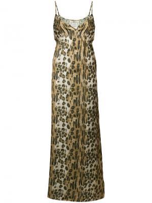 Платье с леопардовым принтом Pink Memories. Цвет: многоцветный