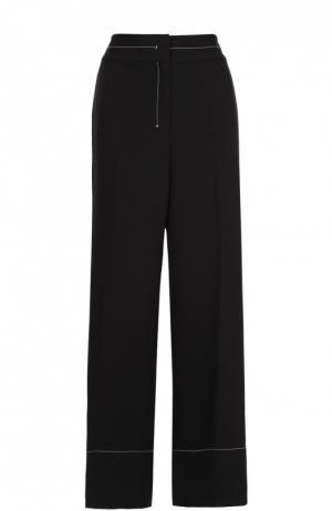 Широкие брюки с контрастной прострочкой и лампасами By Malene Birger. Цвет: черный