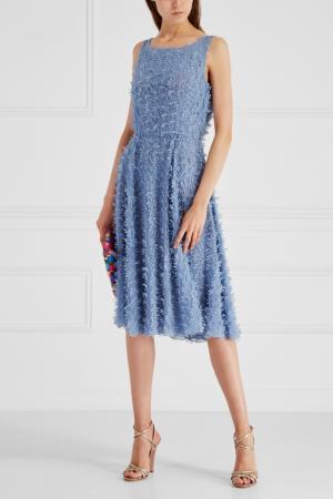 Платье с бисером Alexander Terekhov. Цвет: голубой