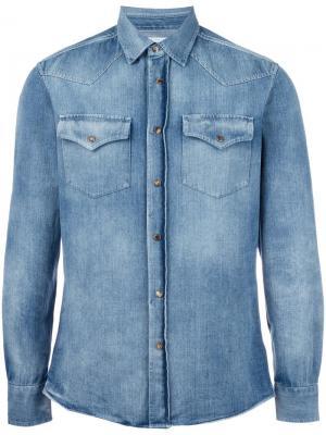 Джинсовая рубашка с нагрудными карманами Brunello Cucinelli. Цвет: синий