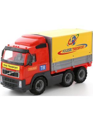 Volvo, автомобиль бортовой тентовый (в коробке) Полесье.. Цвет: красный, желтый