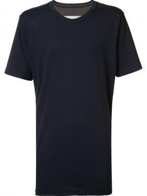 Свободная футболка Ziggy Chen. Цвет: синий