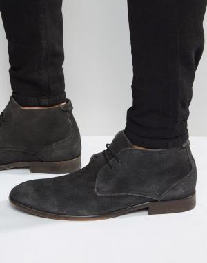 Hudson London Замшевые ботинки Osbourne. Цвет: черный