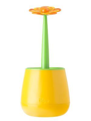 Сушилка для посуды и столовых приборов VIGAR. Цвет: оранжевый, зеленый