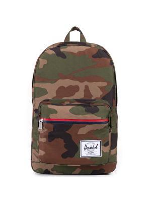 Рюкзак POP QUIZ (A/S) Herschel. Цвет: темно-коричневый,хаки