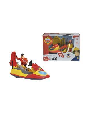 Пожарный Сэм, Гидроцикл со светом, акс. + фигурка Simba. Цвет: красный