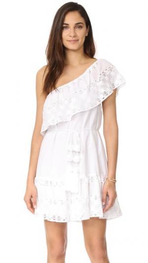 Платье Summer с открытым плечом Miguelina. Цвет: белый