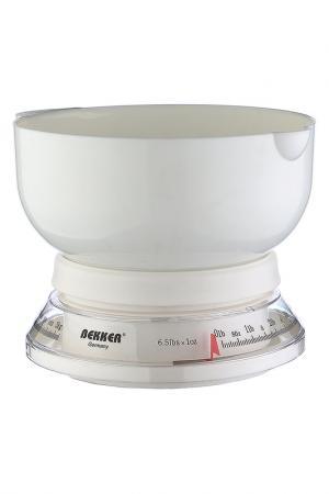 Кухонные весы 3 кг Bekker. Цвет: белый