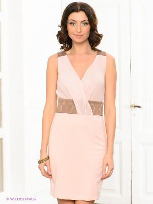 Платье Viaggio. Цвет: бледно-розовый