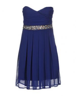 Короткое платье LA KORE. Цвет: темно-синий