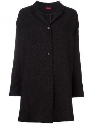 Длинный пиджак Apuntob. Цвет: чёрный