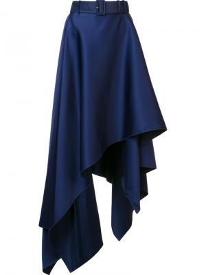 Асимметричная юбка Eliose Solace. Цвет: синий