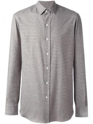 Спортивная рубашка Salvatore Piccolo. Цвет: коричневый