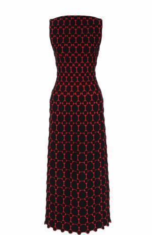 Приталенное платье-миди без рукавов Alaia. Цвет: черный