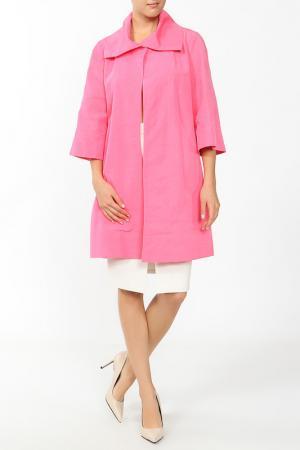 Пальто MSW ATELIER. Цвет: розовый
