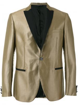 Пиджак с отделкой металлик Tonello. Цвет: коричневый