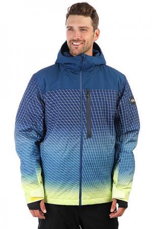 Куртка утепленная  Gravity Sulphur Spring Tech Quiksilver. Цвет: синий,желтый