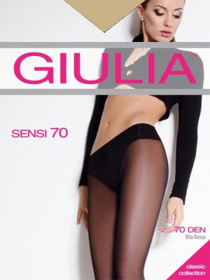 Колготки SENSI 70 VITA BASSA, 2 пары (70 ден) Giulia. Цвет: золотистый