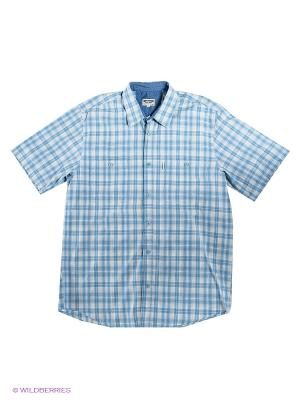 Рубашка Westrenger. Цвет: голубой