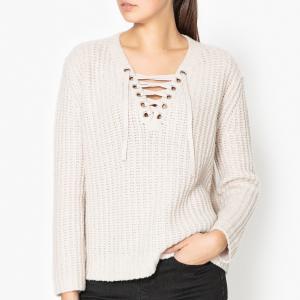 Пуловер из шерсти меланж LILA THE KOOPLES. Цвет: бежевый