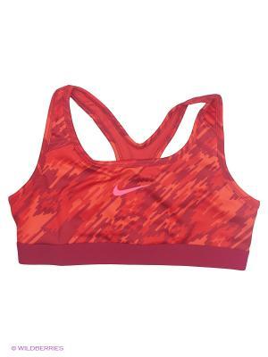 Топ G NP BRA CLASSIC AOP2 Nike. Цвет: красный