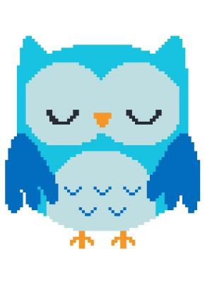 Набор 22х22 (рис/канв., мулине) NITEX. Цвет: голубой, синий