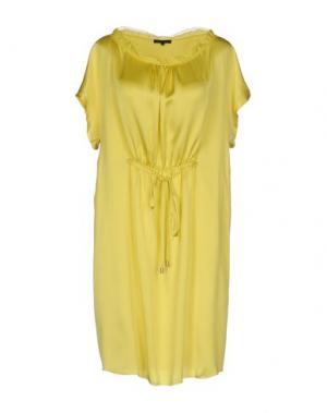 Короткое платье SILK AND SOIE. Цвет: кислотно-зеленый