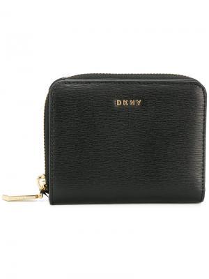 Мини кошелек на молнии Donna Karan. Цвет: чёрный